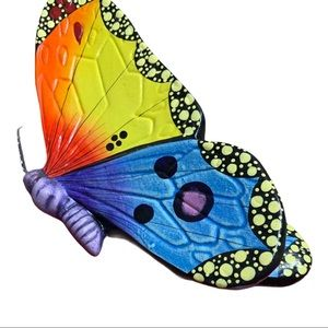 Vintage ceramic painted butterfly